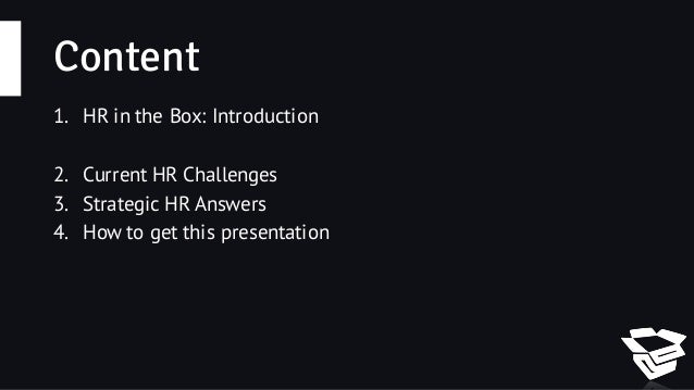HR Challenges and HR Strategic Answers Slide 2