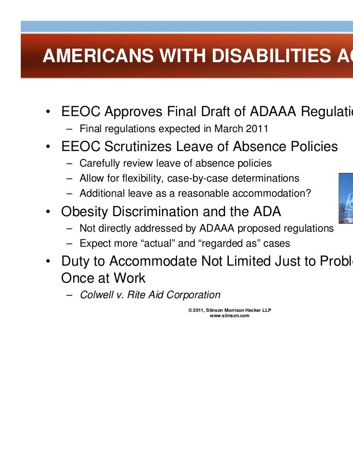 obesity and the american disabilities act The dangers of treating obesity as a  the 2008 amendments to the americans with disabilities act to mean obesity can qualify as a .