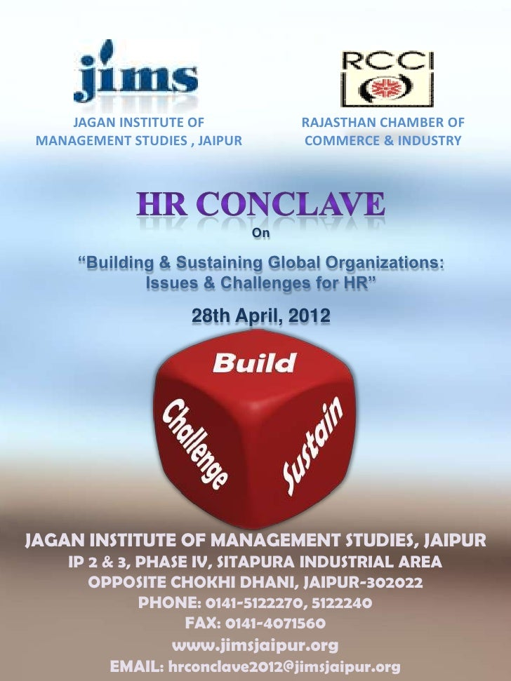 JAGAN INSTITUTE OF             RAJASTHAN CHAMBER OF MANAGEMENT STUDIES , JAIPUR        COMMERCE & INDUSTRY                ...