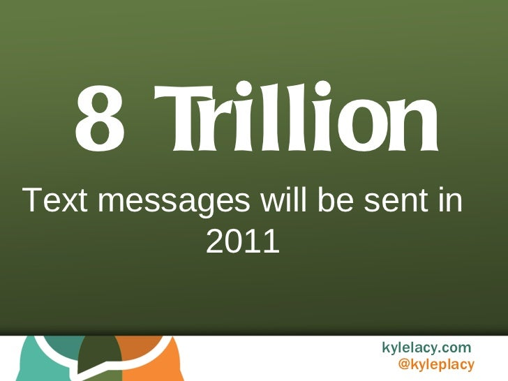 8 Trillion Text messages will be sent in 2011