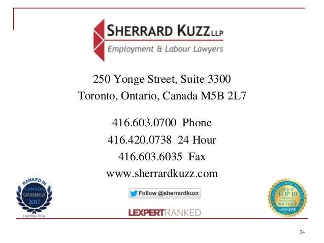 34 250 Yonge Street, Suite 3300 Toronto, Ontario, Canada M5B 2L7 416.603.0700 Phone 416.420.0738 24 Hour 416.603.6035 Fax ...