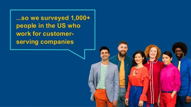 ...so we surveyed 1,000+ people in the US who work for customer- serving companies