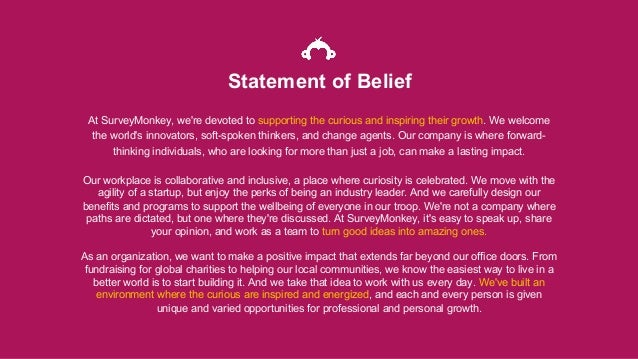 At SurveyMonkey, we're devoted to supporting the curious and inspiring their growth. We welcome the world's innovators, so...