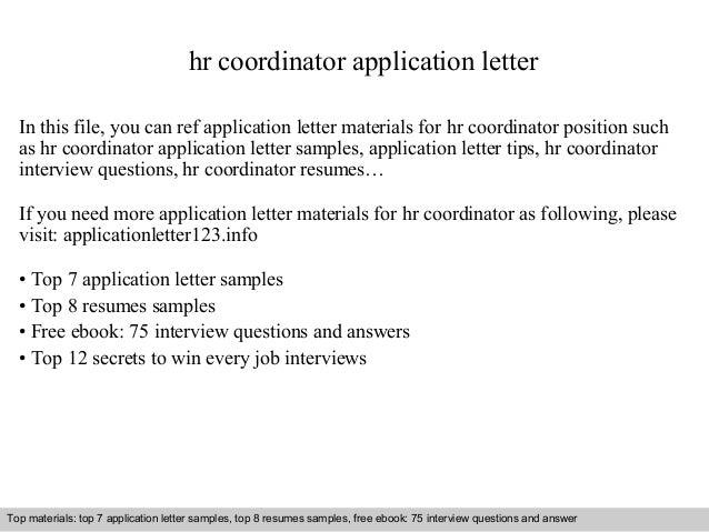 hr coordinator sample resume