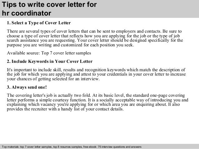 cover letter for hr coordinator thevillas co