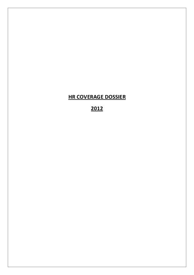 HR COVERAGE DOSSIER       2012