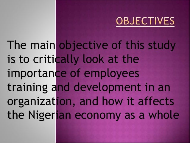 Employee training and development an important