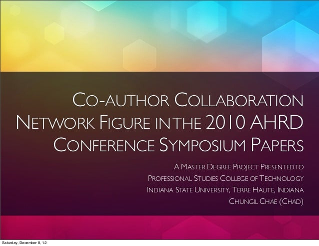 CO-AUTHOR COLLABORATION       NETWORK FIGURE IN THE 2010 AHRD          CONFERENCE SYMPOSIUM PAPERS                        ...