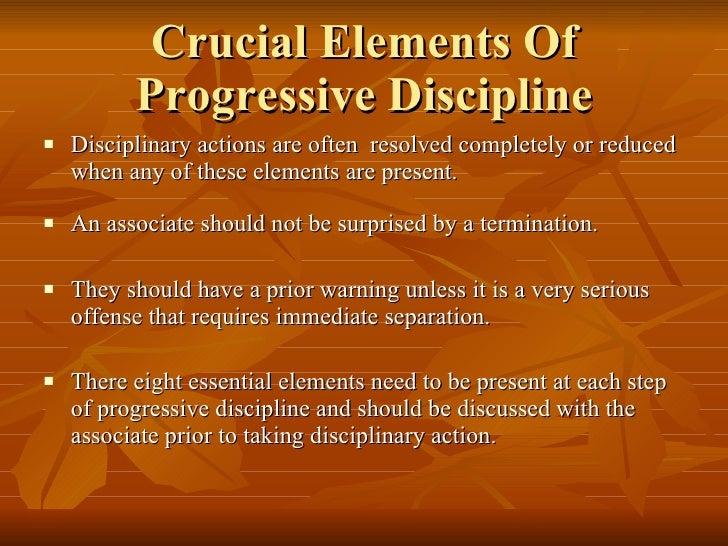Fundamentals Of Progressive Discipline