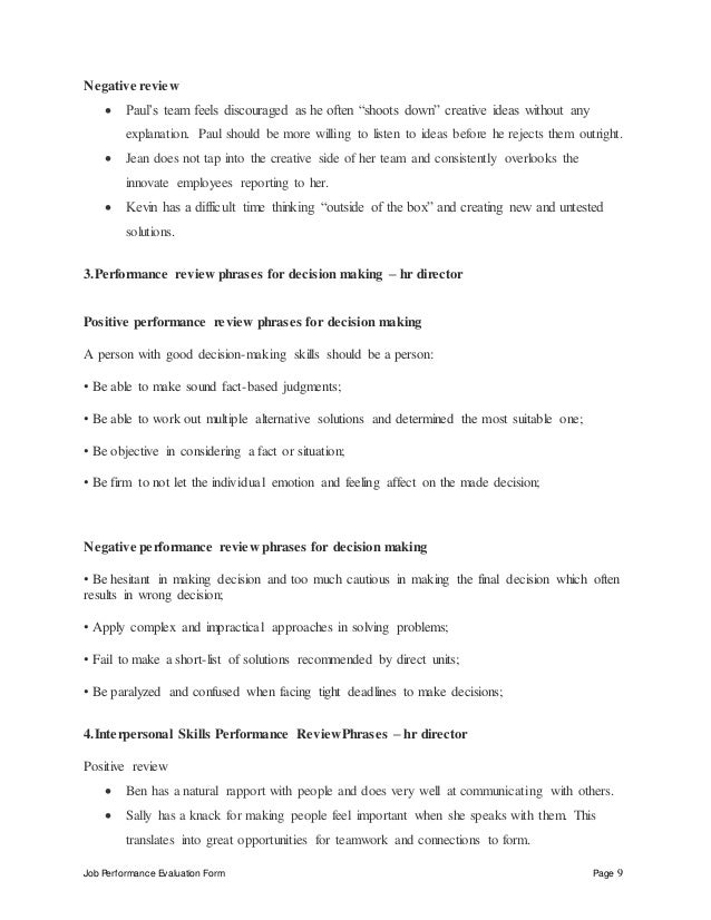 Hr director performance appraisal – Hr Director Job Description