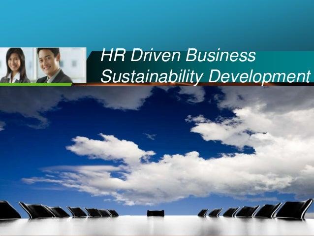 Company LOGO HR Driven Business Sustainability Development