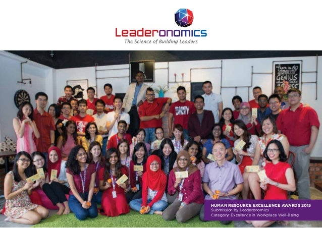 HUMAN RESOURCE EXCELLENCE AWARDS 2015 Submission by Leaderonomics Category: Excellence in Workplace Well-Being