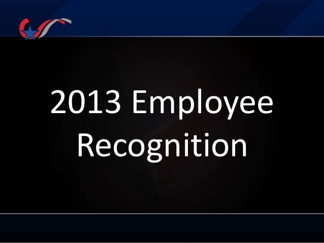 2013 Employee Recognition