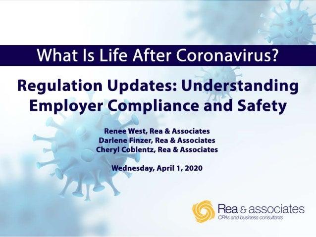 • FFCRA, EFMLEA & EPSLA Updates • CARES Act - New • SharedWork Ohio Program • Unemployment • DOL Workplace Posters – FFCRA...