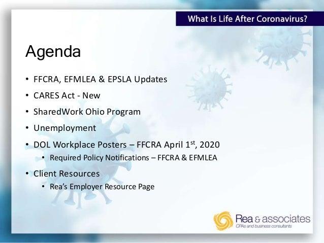 What Is Life After Coronavirus? REGULATION UPDATES: Understanding Employer Compliance & Safety Slide 2