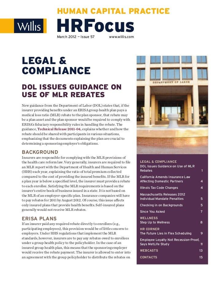 HUMAN CAPITAL PRACTICE                      HRFocus                       March 2012 — Issue 57             www.willis.com...