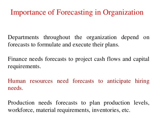 why is forecasting important in human resource planning