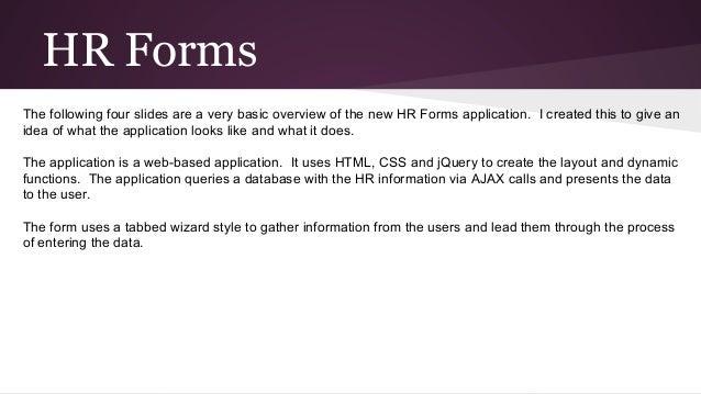 Binghamton University Hr Forms Basic Overview
