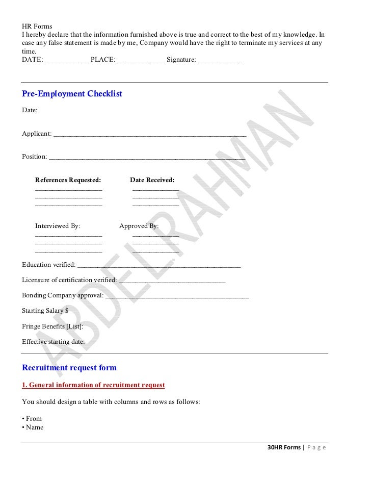 Hr forms final – Recruitment Request Form