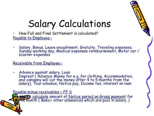 how to calculate notice period pay