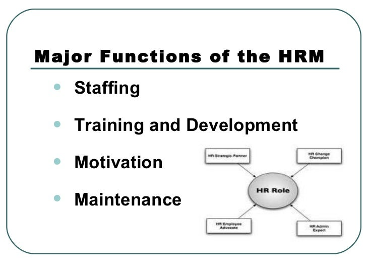 Hr functions and strategy ppt
