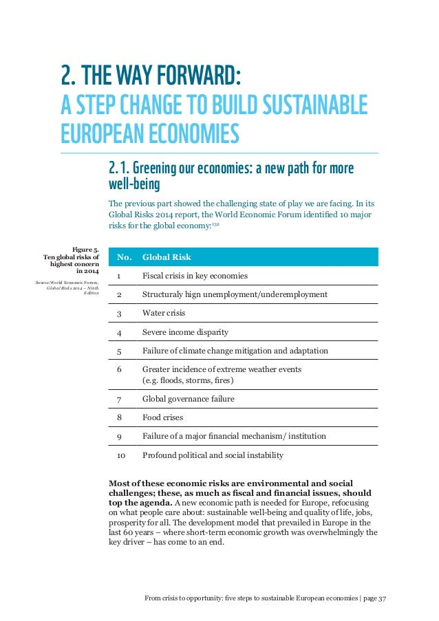 From crisis to opportunity  Five steps to sustainable European econom… 76379e75ac5