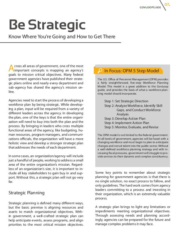Workforce Planning in the Public Sector