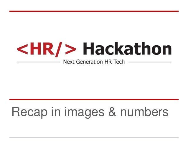 Recap in images & numbers