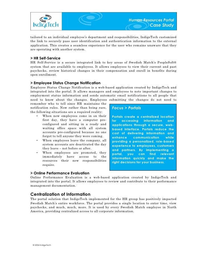 human resources case studies
