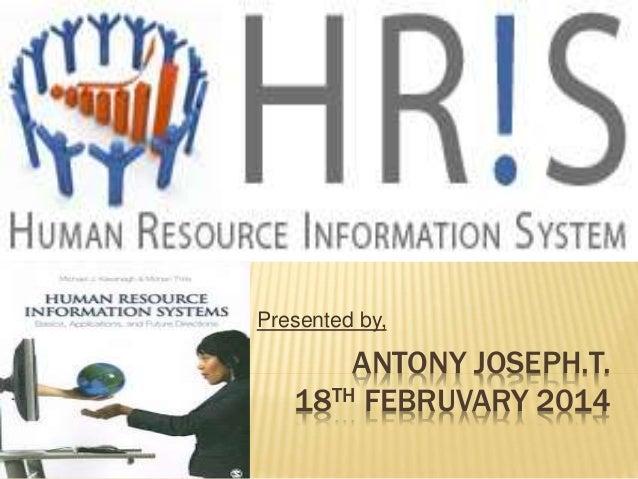 ANTONY JOSEPH.T. 18TH FEBRUVARY 2014 Presented by,