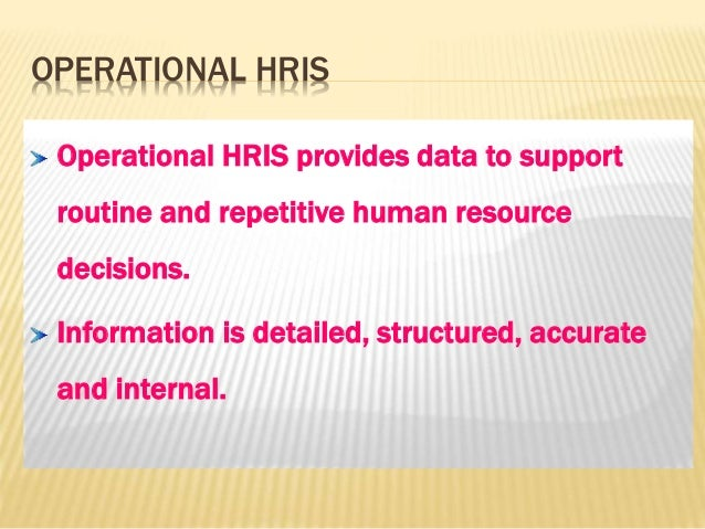 Information Systems for Human Resources Management