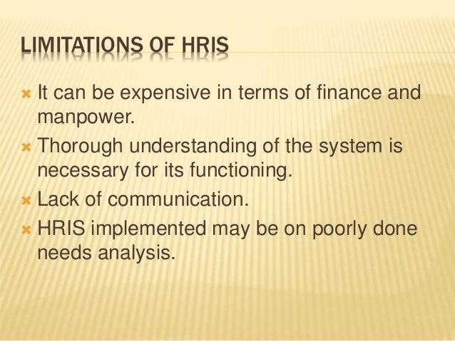 21 limitations of hris