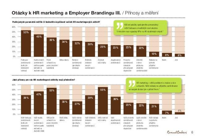 Otázky k HR marketing a Employer Brandingu III. / Přínosy a měření Podle jakých parametrů měříte či hodnotíte úspěšnost va...