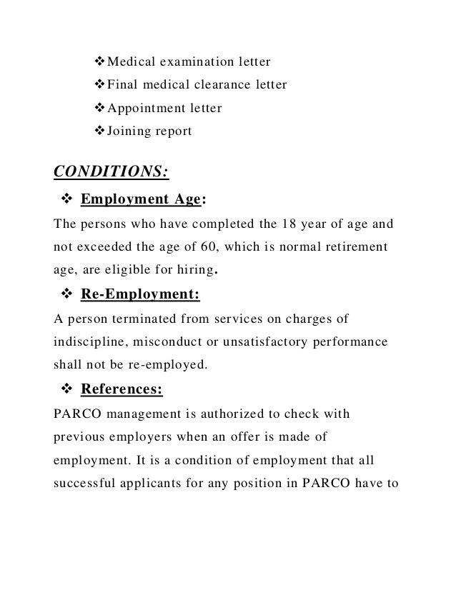 Medical Letter for Work