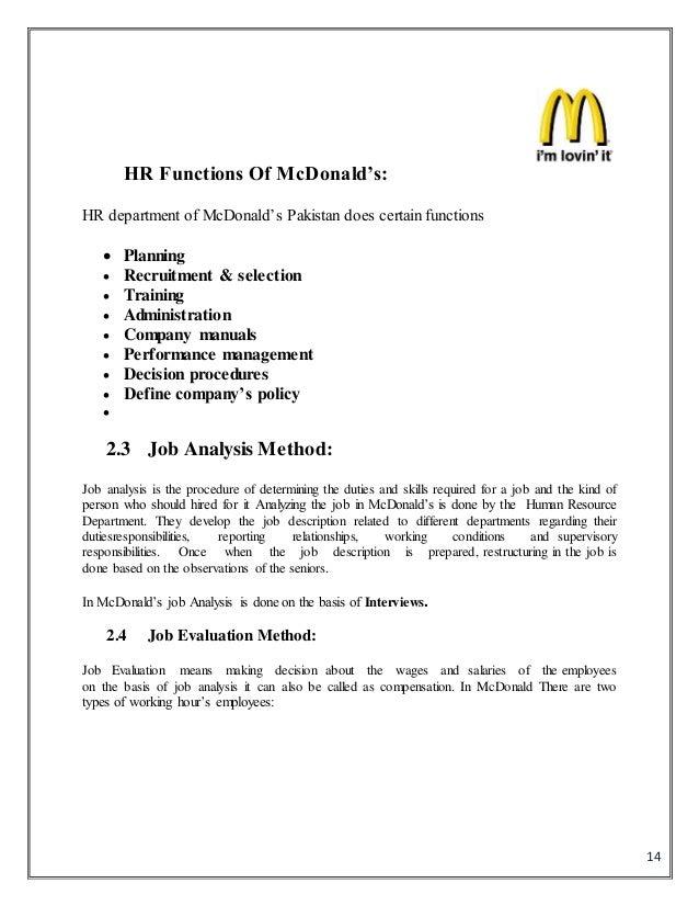 hr in mc donald s rh slideshare net McDonald's Crew Trainer McDonald's Crew Training Uniforms