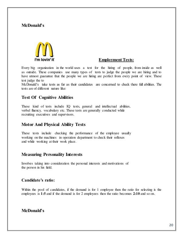 how to see mcdonalds employment