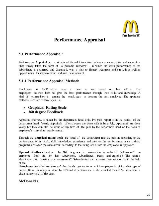 Hr in mcdonalds 26 performance appraisal process methods mcdonalds 27 yadclub Gallery