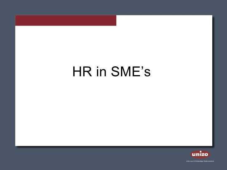 HR in SME's