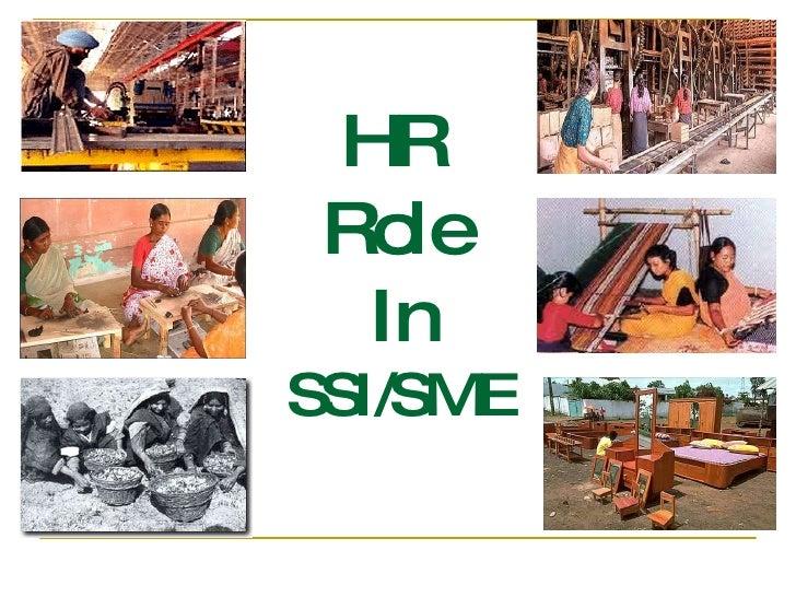 HR  Role  In SSI/SME