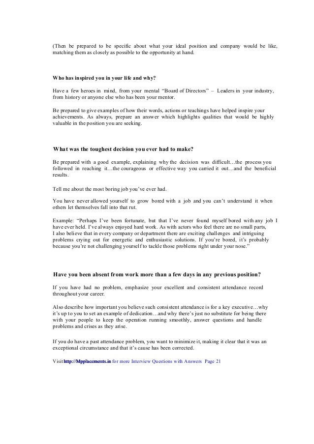 ... For More Interview Questions With Answers Page 21  Http://Mpplacements.in; 22. To Do ...