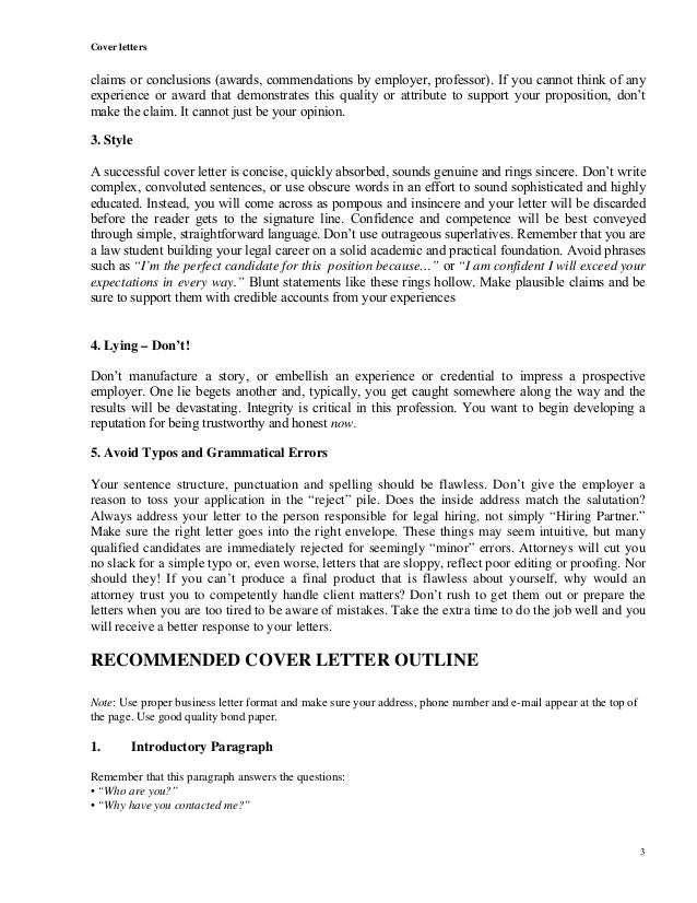 Cover Letters Understanding ...