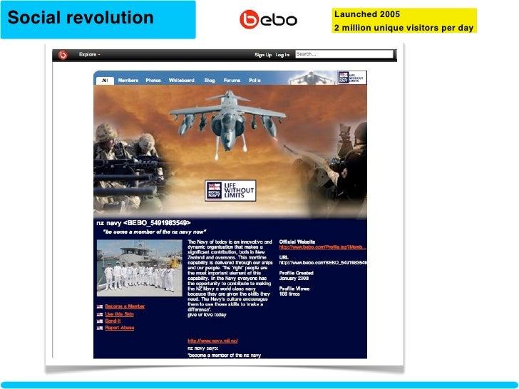 Social revolution   Launched 2005                     2 million unique visitors per day