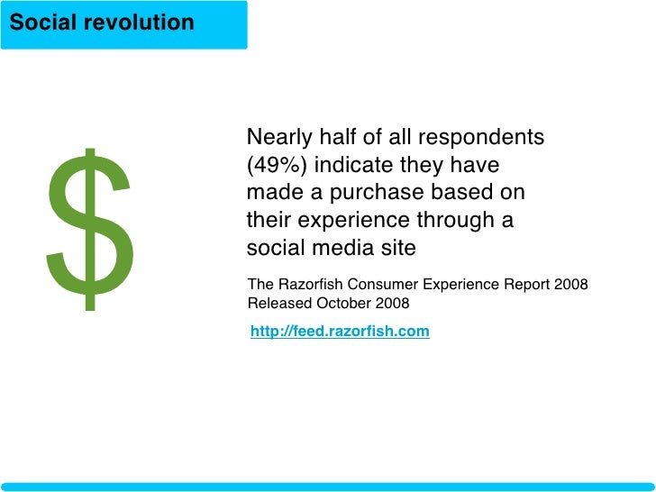 Social revolution       $                     Nearly half of all respondents                     (49%) indicate they have ...
