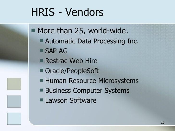 hris vendors - Lawson Hris System
