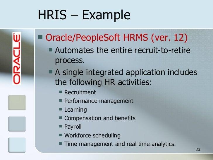 hris example - Lawson Hris System
