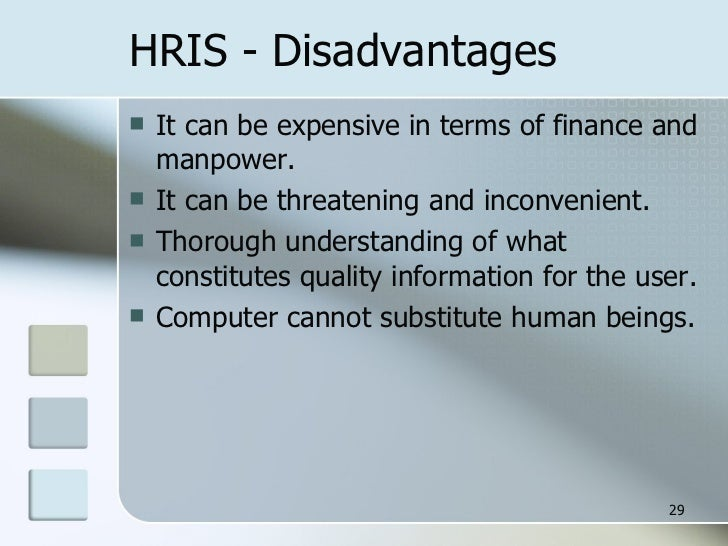 conclusion on hris system The role of human resource information systems (hris) in strategic  finally , chapter 8 presents, the implication of the results, conclusion, and offers.