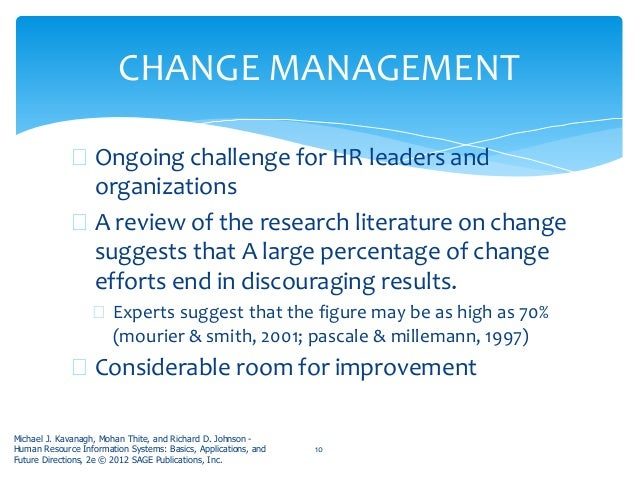 literature review for change management