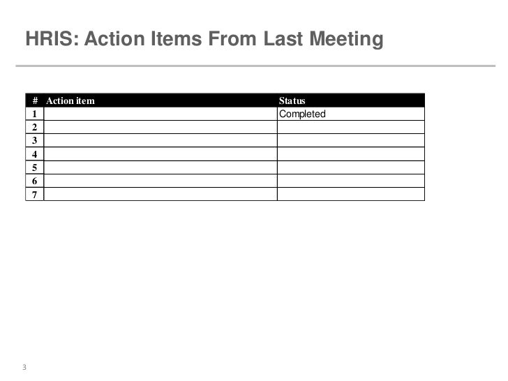 HRIS Steering Committee Template – Committee Report Template