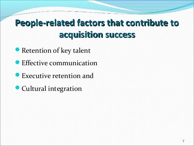 employee issues and failure of mergers and acquisitions management essay Renata is a manager at integration consulting, a strategy, management, and  process  many mergers and acquisitions (m&a) fail to achieve their expected  results  mergers and acquisitions (m&as) are increasingly seen by companies  as a  of the issue in question (bishop, 2006) was correlated with the three  employee.