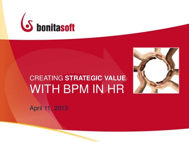 CREATING STRATEGIC VALUEWITH BPM IN HRApril 11, 2013